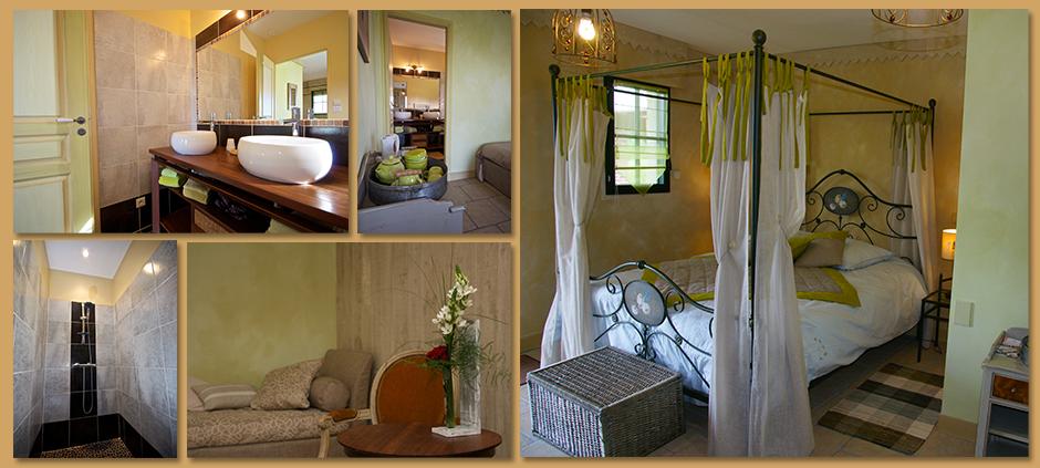chambre champ tre entre vignes et chateaux. Black Bedroom Furniture Sets. Home Design Ideas